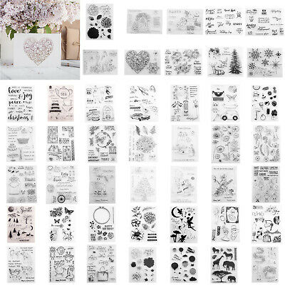 Silicone Clear Stamp Transparent Rubber Stamps DIY Scrapbooking Card Album Craft