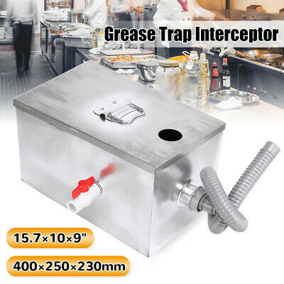 Commercial Grease Trap Stainless Steel Interceptor Fat Traps Restaurant Takeaway