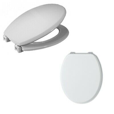 Toilet Seat Cover White Wooden for Bathroom Wc Water Tablet Universal