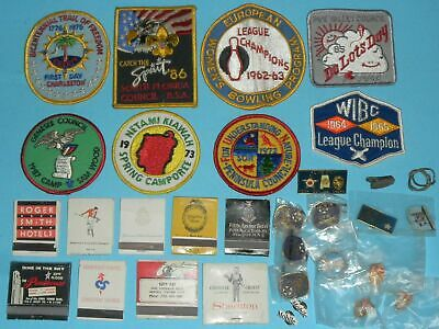Lot Vintage Emroidered Patches Boy Scouts Matchbooks Brass Pin Backs Lapel Hat