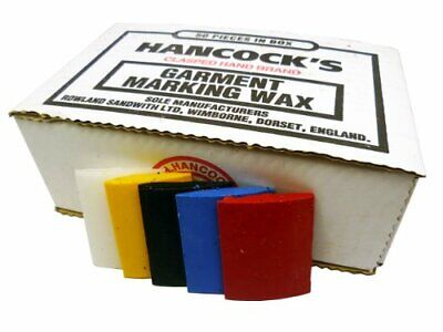 Hancock's Garment / Fabric Marking Tailors Wax Squares Assorted - Pack of 50