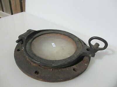 Vintage Iron Brass Porthole Window Ship Antique Old Nautical Marine Maritime 13""