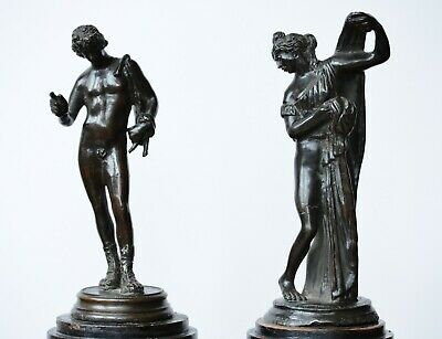Attractive antique pair of bronzed spelter classical figures - Grand Tour