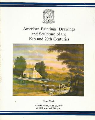 Christie's American Paintings Drawings Sculpture Auction Catalog May 1979