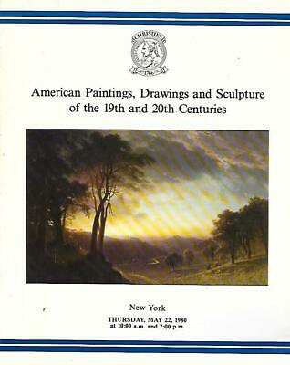 Christie's American Paintings Drawings Sculpture Auction Catalog May 1980