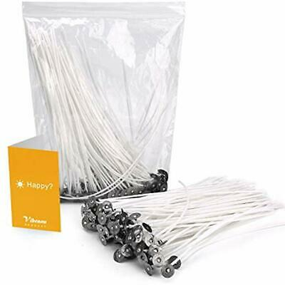 """100PCS Candle Wicks, Nature Cotton For Soy, Paraffin"""" Beeswax Making, 6 Inch By"""