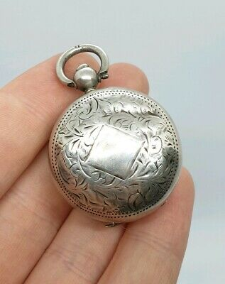 Antique Victorian Sterling Silver Sovereign Coin Holder H/M 1900 Pocket Watch