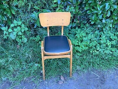 Vintage Retro Thurstons Wooden  Vinyl Stacking Pub School Chairs
