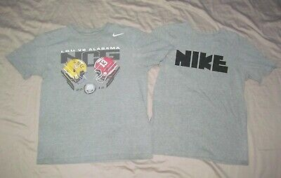 LSU vs Alabama 2012 Football & NIKE logo Men's M Medium Lot 2 pc NIKE T shirts