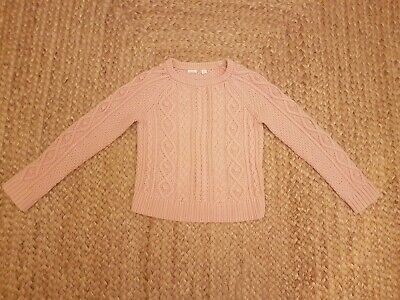 Girls Pink Knitted Jumper Gap Age 8-9