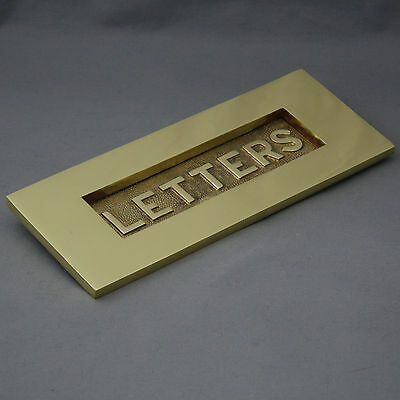 Solid Brass Internal Letter Plate Letterbox Tidy  Warwick Reclamation