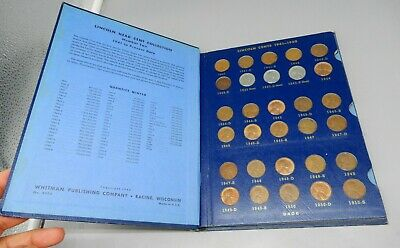 Lincoln Head Penny Cent Collection Set - Whitman album 1941-1965