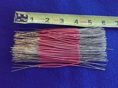 """190 ~ 2 1/2"""" Pieces ~ 24 ga ~ Red Cloth Covered Wire ~ Bell System ~ NEW"""