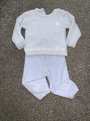 Baby Boys Tutto Piccolo Cordroy Pants And Knit Jumper Set Age 12 Months Blue