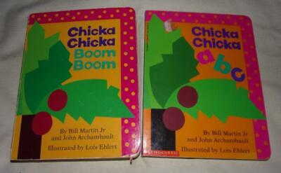 Set of 2 Chicka Chicka Boom Boom board books