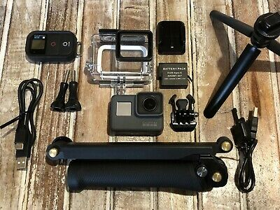 GoPro Hero5 Black CHDHX-501 Camera - Genuine Remote + 3-Way Arm/GripTripod