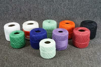 Lot Of 10 Crochet Thread Various Brands And Colors