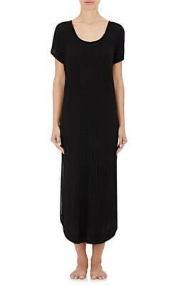 $155 Skin oversized      ribbed stretch cotton nightgown night dress L