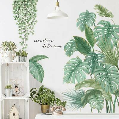Tropical Leaves Green Plant Wall Stickers PVC Decal Nursery Art Mural Decor Top
