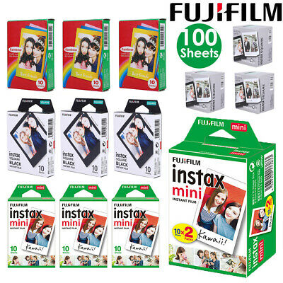100 Sheets Fujifilm Instax Mini Instant Film Mini For 90 8 25 7S Instant Camera