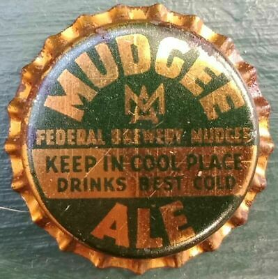 Cork backed unused bottle cap - Federal Brewery Mudgee - Circa 1950's
