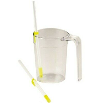 One way Drinking Straw Plastic with adjustable clips warm or cold liquids NEW