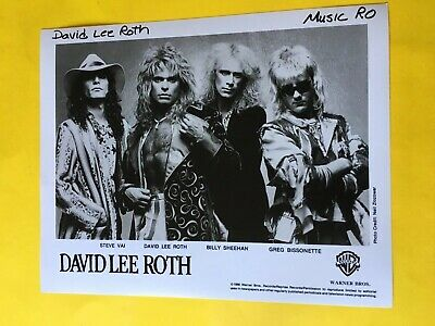 David Lee Roth Press Photo 8x10,  Steve Vai, Billy Sheehan, WB Records 1986.
