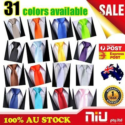 2015 Mens SKINNY TIE Plain Wedding Slim Necktie Formal Casual Narrow Party Solid