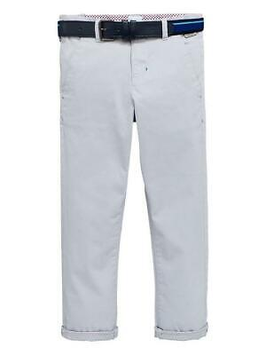 BNWT Baker by Ted Baker Boys Belted Grey Chino Trousers 14 Years