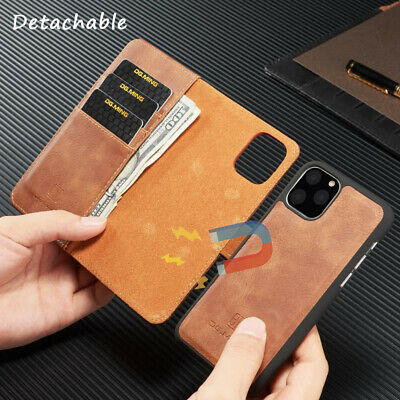 Leather Wallet Flip Magnet Detachable Stand Case Cover For iPhone 11 Pro Max 8 7