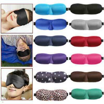 3D Eye Mask Padded Soft Sponge Travel Sleeping Blindfold Sleep Aid