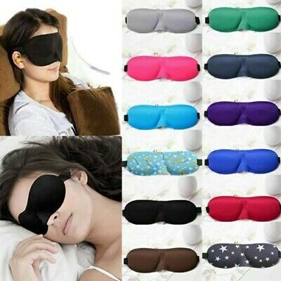 3D Soft Padded Blindfold Blackout Eye Mask Travel Rest Sleep Aid Night Eyepatch