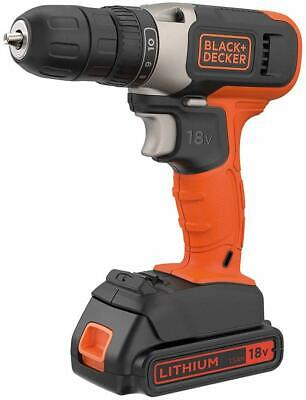 Black & Decker Cordless Drill Driver 18V Battery + Charger  BCD001C1-GB