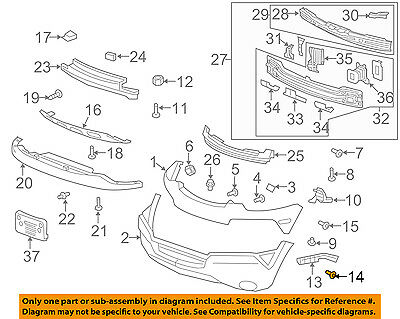 07-12 Acadia NEW LH Driver Side Front Bumper Cover Side Support GM1042117