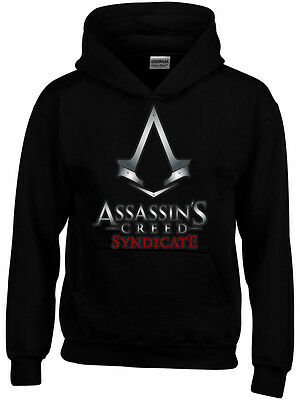 Assassins Creed Syndicate Inspired Boys Girls Kids Funny Hoodie Gamer