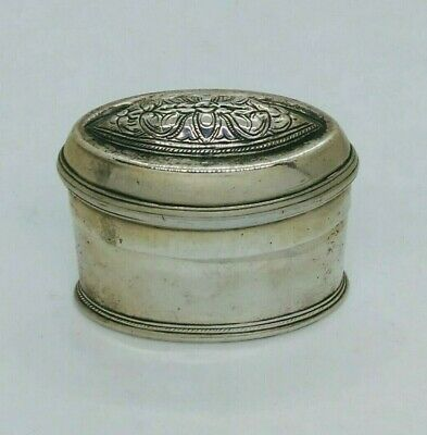 Antique Burmese Silver Lime Box, Overlapping Flowers, Shan States, Late 19Th C