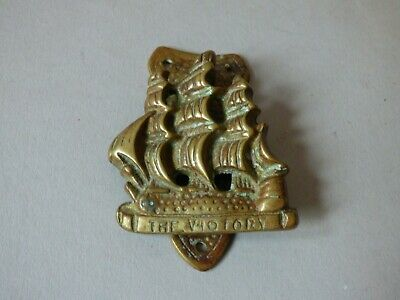 Hms Victory Nelson Ship Galleon Architectural Brass Door Knob Knocker Handle