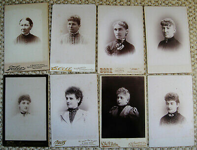 Lot Of 8 Cabinet Photos Lovely Victorian Women All From San Francisco California