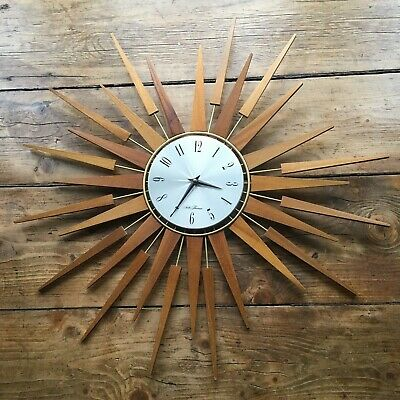 Vintage Retro Original Seth Thomas Starburst Wall Clock