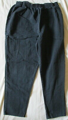 Classic Elements BLACK pull-on elastic waist denim jeans 18W ~ Very Nice!