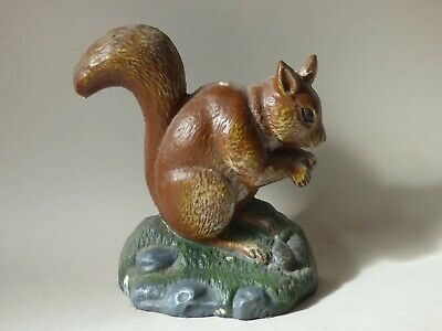 Collectable Cast Iron Red Squirrel Farm Countryside Wild Animal Doorstop Free Uk