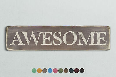 AWESOME Vintage Style Wooden Sign. Shabby Chic Retro Home Gift