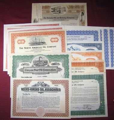 Stock Certificate Sequoyah Oil and Refining Company