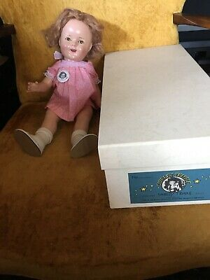 "Cute Vintage 1930s 16"" Composition Ideal Shirley Temple Doll new box"