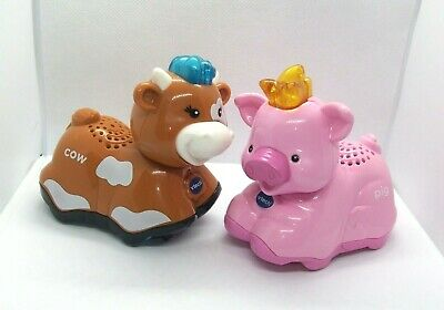 Vtech - Toot Toot Farm Animals Pink Pig & Brown Cow