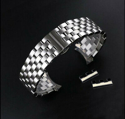Stainless Steel Metal Bracelet Butterfly Replacement Watch Band Strap