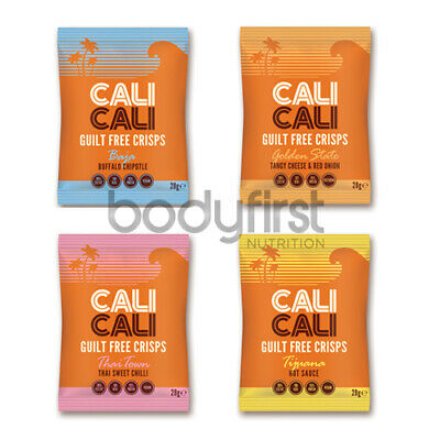 Cali Cali Foods Vegan Friendly Guilt Free Crisps Box of 21 x 28g