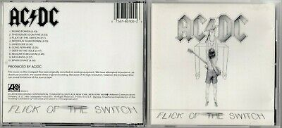 AC/DC - Flick of the switch CD 1983 ATLANTIC 780100-2 EARLY PRESS USA GOOD