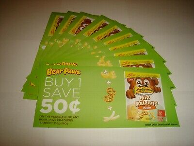 10 x Save .50 on Bear Paws Crackers Coupons - Canada Only