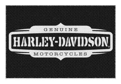 Harley-Davidson Generate Non-Skid Tufted Rug, 39 x 59 in, Black & White NW117379